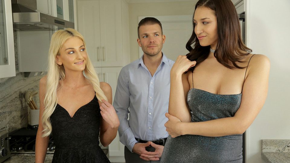 Grifter cuties Tallie Lorain and Bella Roland bring their mark home and jump his bones for a hot blooded threesome