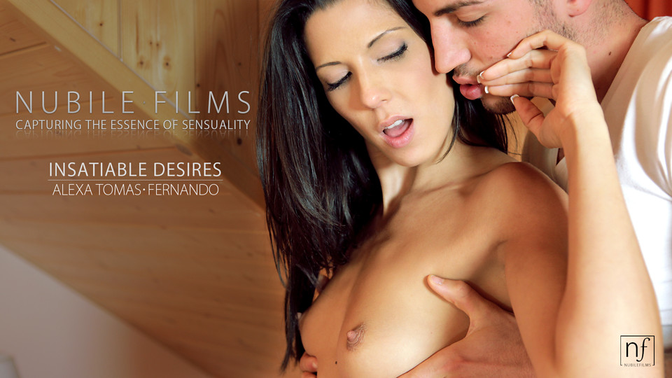 Stunning Spanish babe Alexa Tomas uses her lush mouth and sweet slender body to seduce her man into a raunchy fuck fest