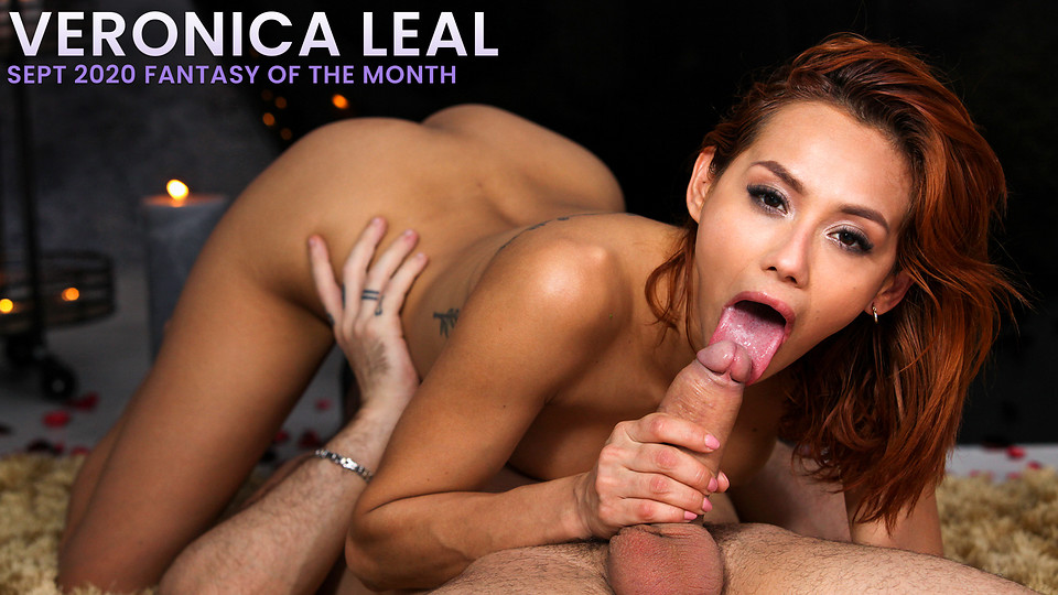 Stunning redhead Veronica Leal gets to call all the shots in this special film that lets her live out a hardcore fantasy