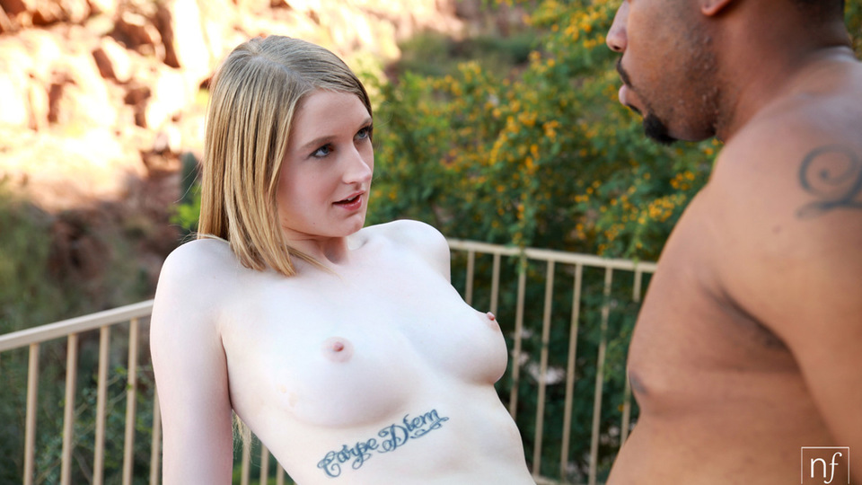 Blonde hottie Summer Carter greedily gets her eager mouth and her cum hungry bald pussy stuffed by a big thick cock
